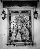 Altar católico en calle pública Fotos de archivo