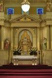 Altar católico hermoso Fotos de archivo