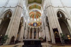 Altar in Cathedral of Almudena Royalty Free Stock Photos