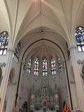Altar cathedral basilica immaculate conception Royalty Free Stock Photo