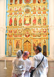 Altar of the Cathedral.  New Jerusalem Monastery. Istra. Moscow region Stock Photos