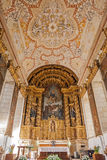 Altar and ceiling of the S. Bento monastery. Royalty Free Stock Photo