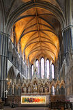 Altar and chancel of Worcester Cathedral, England, UK Royalty Free Stock Photo