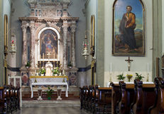 Altar of a church stock photo