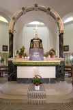 Altar in Church of Church of Beatitudes in Tabgha Royalty Free Stock Image