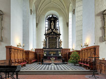 Altar of the Church of Holy Trinity in Kristianstad, Sweden Royalty Free Stock Images