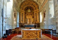 Altar church of Loios in Santa Maria da Feira Stock Image