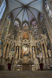Altar in a church. Picture of a beautiful altar in a gothic church Royalty Free Stock Photos