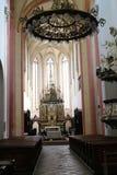 Altar in Church of Presentation of the Blessed Virgin Mary in České Budějovice, South Bohemia. Czech republic stock photos