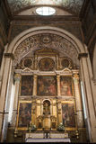 Altar of the church of Santa Maria in Obidos, Portugal, Europe Royalty Free Stock Images