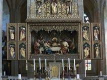 Altar in Church of St Barbara Stock Image