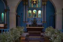 Altar of church of St. John the Baptist in Trancoso Bahia Stock Images