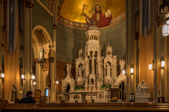 Altar in church Sts.Peter and Paul in San Francisco Stock Photos