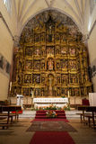 Altar of the Colegiata de San Antolin, Medina del Campo Royalty Free Stock Image