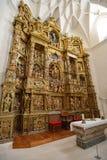 Altar of Colegiata de Santa Maria la Mayor Stock Photos
