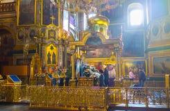 Altar com ícone da Virgem Maria de Dormition Imagem de Stock
