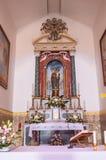Altar con la Virgen María del santuario de Maria SS en casta Foto de archivo libre de regalías