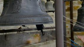 Altar con una campana sí almacen de video