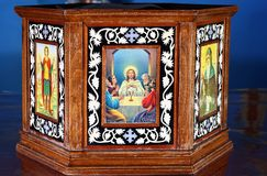 Altar coptic church Stock Images
