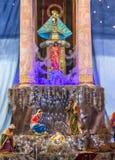Altar Creche Christmas Parroquia Dolores Hidalgo Mexico. Altar Christma Creche Mary Parroquia Cathedral Dolores Hidalgo Mexico. Where Father Miguel Hidalgo made stock photos
