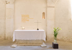 Altar with cross Royalty Free Stock Photo