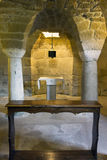 Altar in the crypt of a church Royalty Free Stock Photos