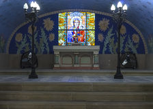 Altar of the crypt Stock Photo