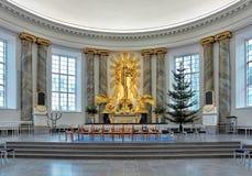 Altar da catedral de Gothenburg, Suécia fotos de stock royalty free