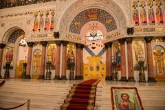 Altar da catedral de Kronstadt Fotos de Stock Royalty Free
