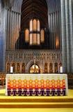 Altar da catedral de Ripon imagens de stock royalty free