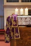 Altar da igreja Foto de Stock Royalty Free