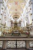Altar da igreja dos Franciscans Fotos de Stock Royalty Free