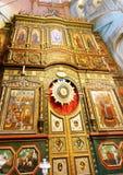 Altar da igreja ortodoxa Imagem de Stock Royalty Free