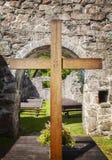 Altar da ruína da igreja Imagem de Stock Royalty Free