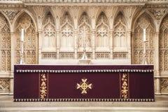 Altar de Abbey Church del baño Foto de archivo libre de regalías