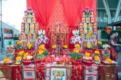 Altar de dioses en festival chino del Año Nuevo Foto de archivo