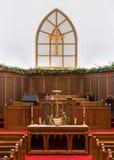 Altar de Grace United Methodist Church imágenes de archivo libres de regalías