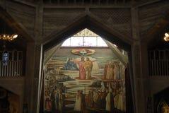 Altar de la basílica del anuncio Imagenes de archivo