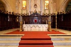 Altar de la catedral de La Habana Foto de archivo libre de regalías