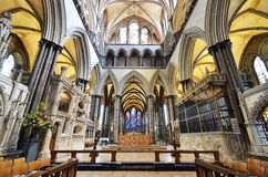 Altar de la catedral de Salisbury imagen de archivo