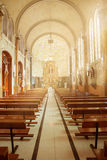 Altar de la iglesia Foto de archivo libre de regalías