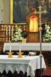 Altar de la iglesia Fotografía de archivo libre de regalías