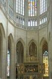 Altar de la iglesia de Barbara del santo Imagenes de archivo