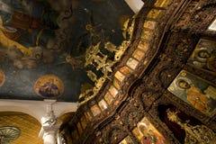 Altar de la iglesia de los balnearios del santo Fotos de archivo