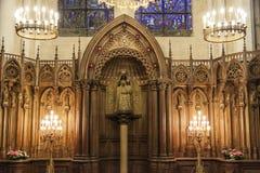 Altar de la nuestra señora del pilar - catedral de nuestra señora de C Imagen de archivo