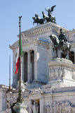 Altar de la patria (plaza Venezia - Roma) Imagen de archivo