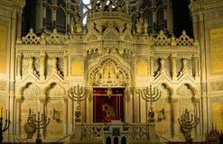 Altar de la sinagoga en Szeged Fotos de archivo