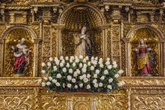 Altar de oro foto de archivo