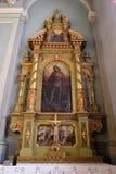 Altar de San Jorge en la basílica del corazón sagrado de Jesús en Zagreb Foto de archivo