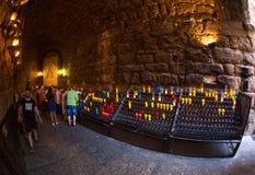 Altar de Santa Maria de Montserrat Catalonia, España Imágenes de archivo libres de regalías